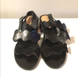 "Marc Fisher omalla sandals black block heel 2"" 10"